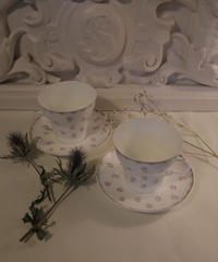 Russian rose   cup&saucer