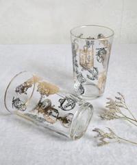 VTG gothic print glass