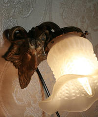 brass sheep wall lamp