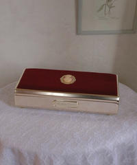 VTG velvet & cameo jewelry box
