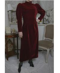 VTG red velvet dress