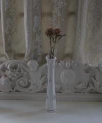 VTG  handpainted milk glass vase
