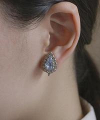 90s clear blue bijou earring
