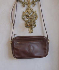 "VTG ""Cartier""  leather shoulder bag"