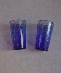 VTG blue star glass pair