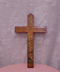 antique handmade saint cross