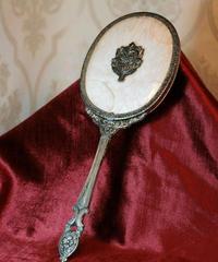 vtg 60s sheseido hand mirror