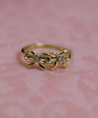 vintage 10k ribbon ring