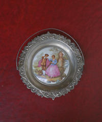 vintage metal lady tray Ⅵ