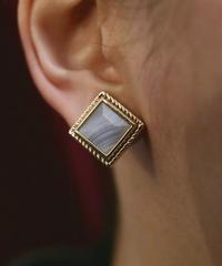 VTG marble stone bijou earring
