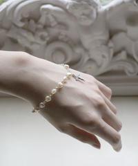 VTG heart beads rosary bracelet