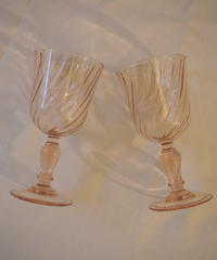 VTG french pink glass
