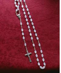 white  beads rosary