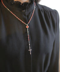 Italian red beads rosary