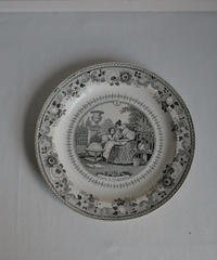 antique montrau plate
