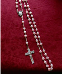 pink heart beads rosary