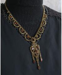 brown&gold oliental bijou necklace
