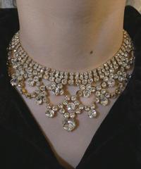 VTG crystal bijou necklace