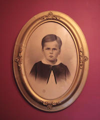 US antique boy ART frame