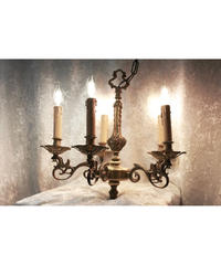 UK antique brass chandelier