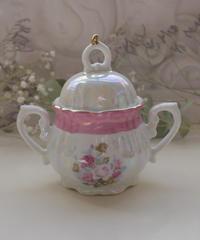 VTG aurora  pink sugar pot