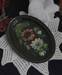 ATQ hand painted metal tray