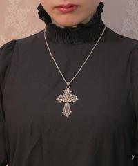 antique silver filings cross