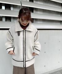 【受注販売】ボアフライトジャケット アイボリー