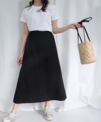 リネンロングスカート ブラック