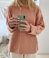 <LI-2211032> リブクルーネックセーター