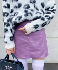 <MY-2212123> フェイクレザースカート