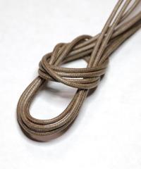 Beige Shoelaces with Agret /●紐先金具込み/ ベージュ / ロウ引き丸紐/ 長さ指定可
