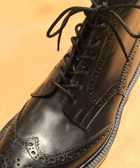 Black shoelaces for Tricker's boots and others /トリッカーズ カントリータイプ シューレース / 黒 靴ひも 70cm、110cm、120cm