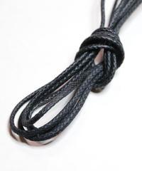 Black Waxed Lace / 黒 / 丸紐 / 芯までロウ引きシューレース / ワックスコード / 石目