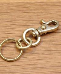 Key chain / 真鍮製ナスカン (小)と2重リングのキーホルダー/