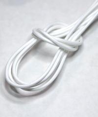 White Round Lace / 白 / ホワイト / 丸紐 / ロウ引き / レギュラー