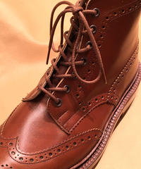 Brown shoelaces for Tricker's and others /トリッカーズ カントリータイプ シューレース / 茶 靴ひも 70cm、110cm、 120cm