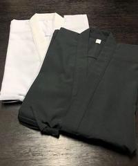 居合道衣(黒・白)高級テトロン製 4.5号/5号