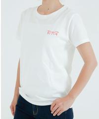 ロゴスクエアステッチ刺繍Tシャツ