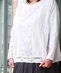 【2019SS新作】YARRA レース刺繍アンティーク風プルオーバー