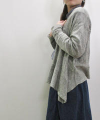 【2019SS新作】YARRA 裾柄編みリネンニットカーディガン