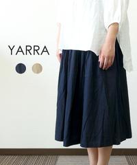 YARRA 綿麻タック&ギャザースカート
