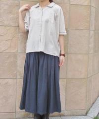 【2019夏】YARRA 衿刺繍シャツブラウス