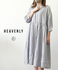 HEAVENLY リネンシャンブレーシャツワンピース