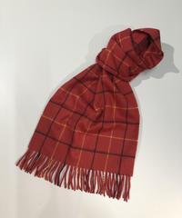 [Joshua Ellis] CP50015/scarf Tattersall (brt scarlet x black x yellow )