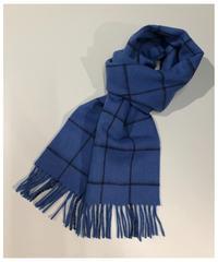 [Joshua Ellis] CP51107/scarf Windowpane (soft sapphire x navy)
