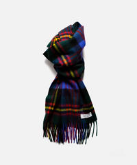 [Joshua Ellis] CP49410/scarf Modern Tartan v checks (new green x brt scarlet x blue)