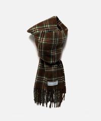 [Joshua Ellis] CP49382/scarf Sport Check (brown x jade green)