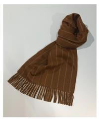 [Joshua Ellis] CP51104/scarf Chalk Stripe (crocket x dk fawn)