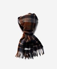 [Joshua Ellis] CP50112/scarf Modern Tartan v checks (chatham navy x nutmeg )